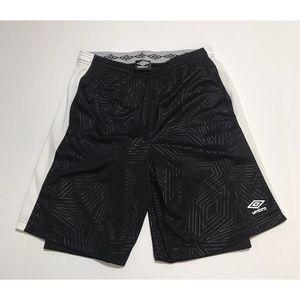 Umbro Big Logo Athletic Shorts With Inside Tights